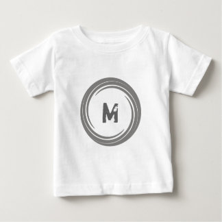 Washed Away! Gray Monogram Baby T-Shirt