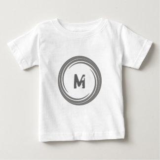 Washed Away! Gray Monogram Baby T-Shirt