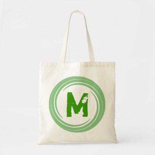 Washed Away! Green Monogram Bag