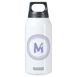 Washed Away! monogram in purple 10 Oz Insulated SIGG Thermos Water Bottle