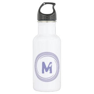 Washed Away! monogram in purple 18oz Water Bottle