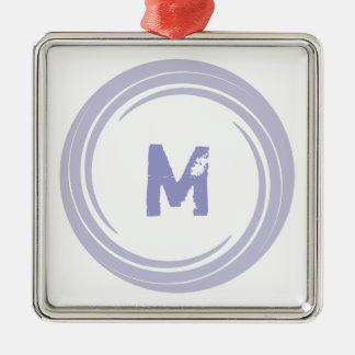 Washed Away! monogram in purple Metal Ornament