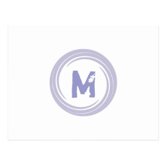 Washed Away! monogram in purple Postcard