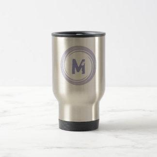Washed Away! monogram in purple Travel Mug