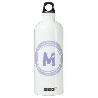 Washed Away! monogram in purple Water Bottle