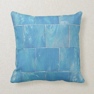 Washed Blue Siding Throw Pillow