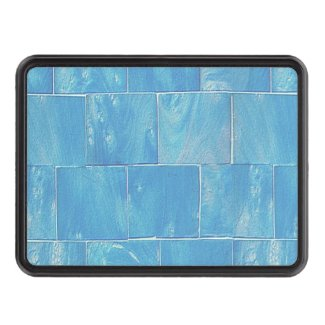 Washed Blue Siding Tow Hitch Cover