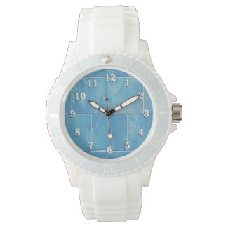 Washed Blue Siding Wristwatch