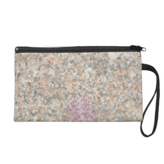 washed crushed shells scallop beach image wristlet purses