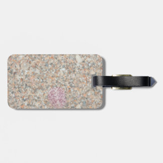 washed crushed shells scallop beach image luggage tags