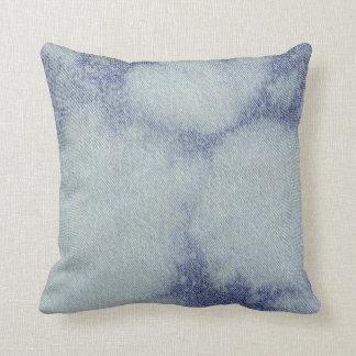Washed Denim Design #1 @ Emporio Moffa Throw Pillow