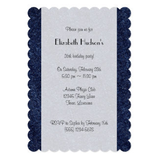 Washed Denim Fabric (Twill Textile) - Blue Cards