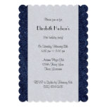 Washed Denim Fabric (Twill Textile) - Blue 5x7 Paper Invitation Card