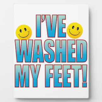 Washed Feet Life B Plaque