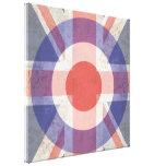 Washed Mod Target on aged union jack Canvas Print