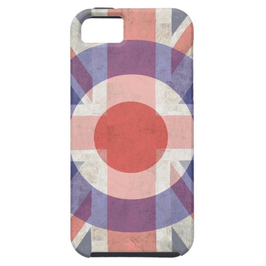 Washed Mod Target on aged union jack iPhone SE/5/5s Case