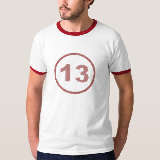 washed out 13 billiard ball (red) T-Shirt
