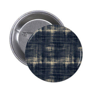 Washed Out Dark Blue Fabric Pinback Button
