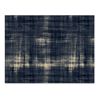 Washed Out Dark Blue Fabric Postcard