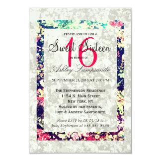 Washed Out & Multicolor Elegant Floral Collage Card