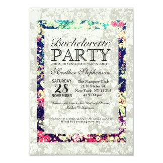 Washed Out & Multicolor Elegant Floral Collage 3.5x5 Paper Invitation Card