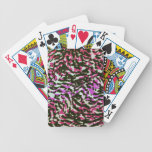 Washed Out Zebra Pattern Bicycle Poker Cards
