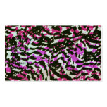 Washed Out Zebra Pattern Double-Sided Standard Business Cards (Pack Of 100)