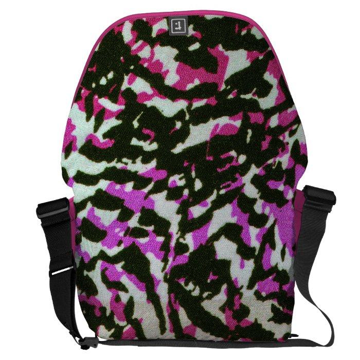 Washed Out Zebra Pattern Messenger Bag