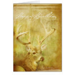 Washed Painting Deer Birthday Card
