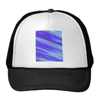 WASHED UP - Bold Blue Stripes Abstract Watercolor Trucker Hat