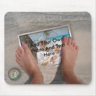Washed Up Photos Mousepad - Feet over Photo