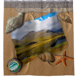 WASHED UP PHOTOS SHOWER CURTAIN- Kungsleden Shower Curtain