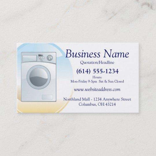 Washerappliances Business Card Design 2