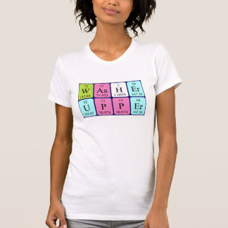 Washer periodic table word shirt
