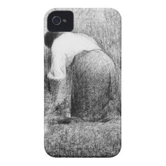 Washerwoman by Georges Seurat iPhone 4 Cover