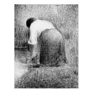 Washerwoman by Georges Seurat Postcard