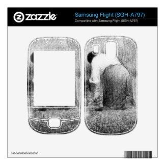 Washerwoman by Georges Seurat Skin For Samsung Flight