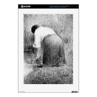 Washerwoman by Georges Seurat Skin For The PS3