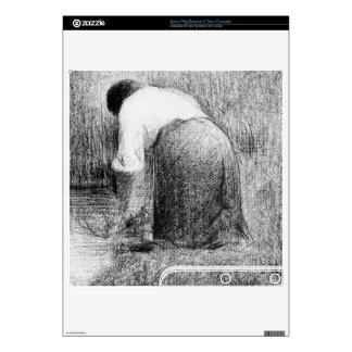 Washerwoman by Georges Seurat Skins For The PS3 Slim