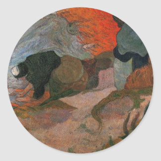 Washerwomen by Paul Gauguin Classic Round Sticker