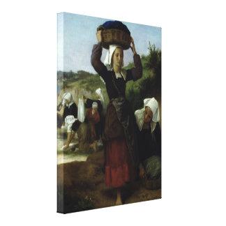 Washerwomen of Fouesnant by Bouguereau Canvas Print