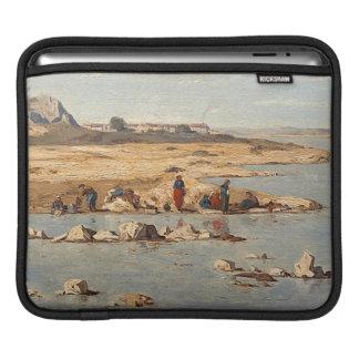 Washerwomen on the Banks of the Durance, 1866 iPad Sleeve