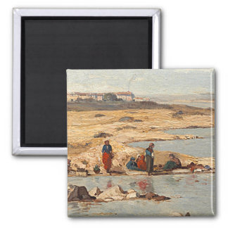 Washerwomen on the Banks of the Durance, 1866 Magnet