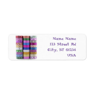 washi return address lables label