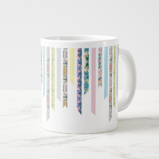 Washi Tape Pastels | DIY & Crafts | Ribbon Strips Large Coffee Mug