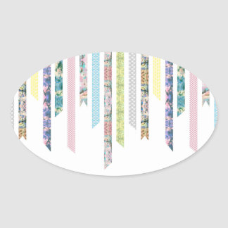 Washi Tape Pastels   DIY & Crafts   Ribbon Strips Oval Sticker