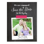 Washi Taped Polaroid Save the Date Postcard