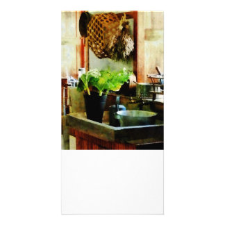 Washing Garden Greens Picture Card