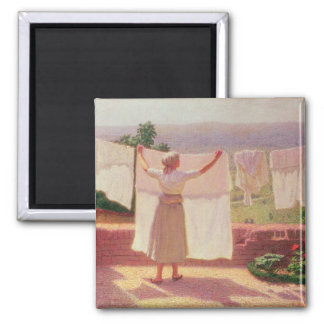 Washing in the Sun 2 Inch Square Magnet