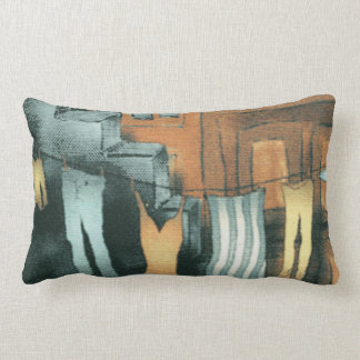 Washing Line Lumbar Pillow